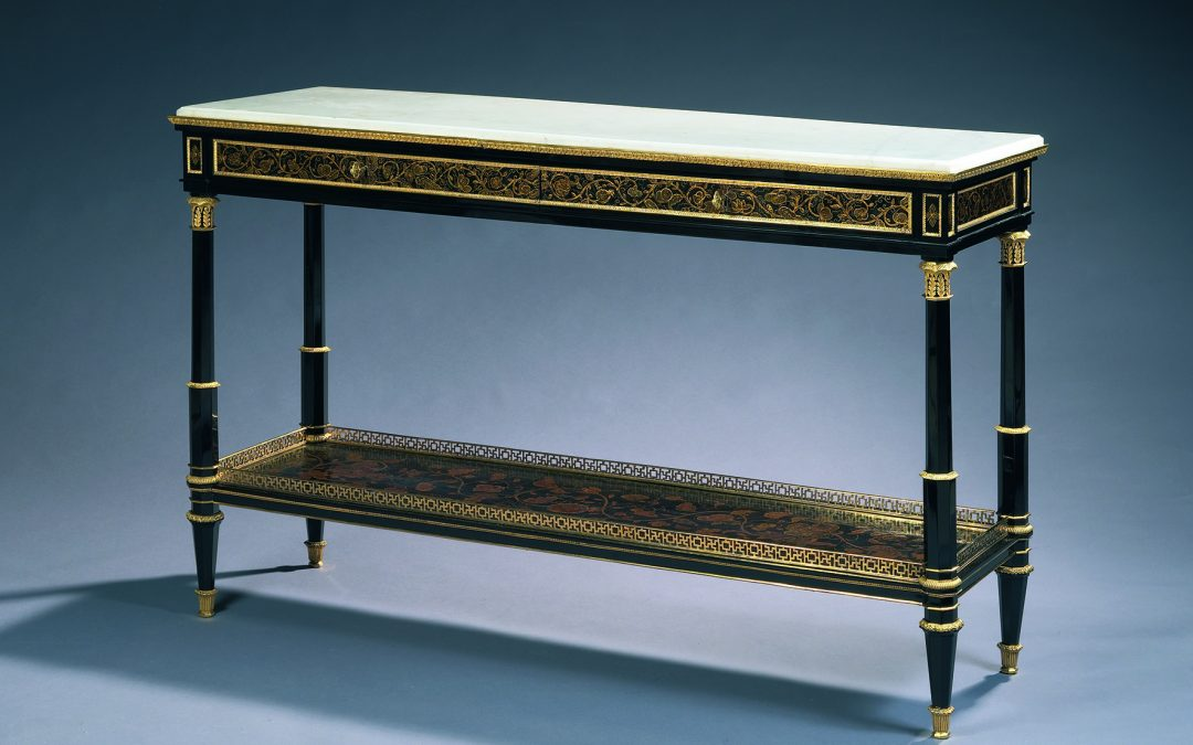 Ebony and chinese lacq Console