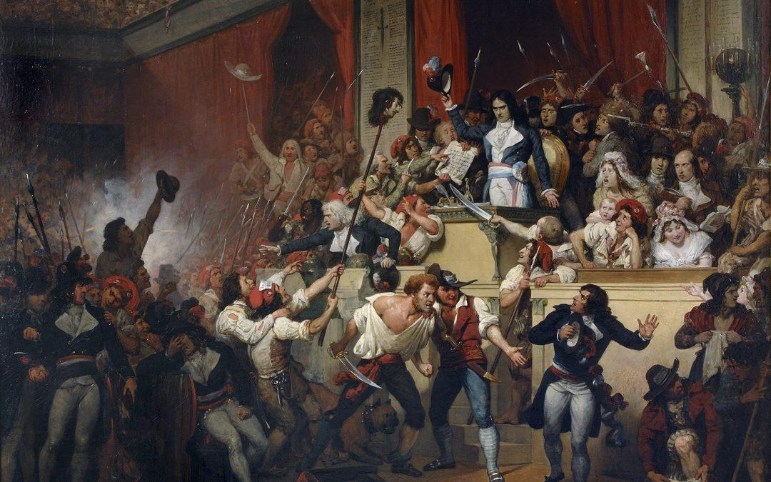 BOISSY D'ANGLAS SALUANT LA TETE  DU DEPUTE FERAUD. JOURNEE DU 1ER PRARIAL AN VII
